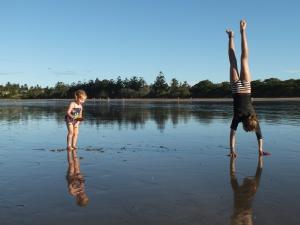 Girl fun on the beach