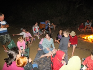 Campfire with Grunda on the guitar