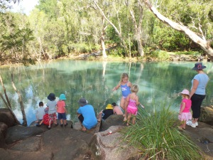 The water at Byfield was freezing!