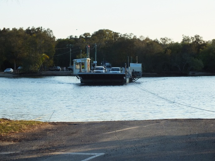 The car ferry back to the mainland at Noosa North Shore