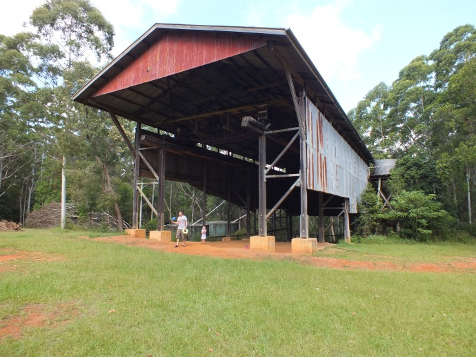 'The Gantry' - old logging shed.  Great picnic area with some easy walks around and the kids loved playing in the dirt under 'The Gantry'.