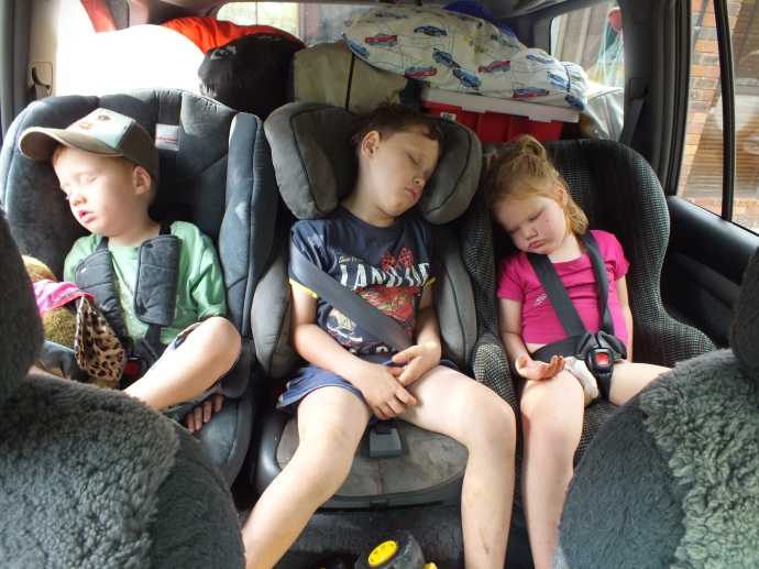 And the best bit - tuckered out kids on the way home!