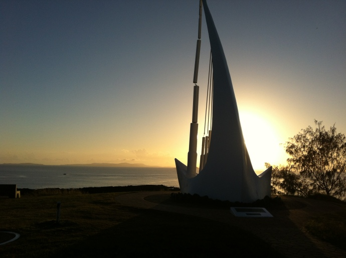 Emu Park is famous for its 'Singing Ship' which sits up at the lookout - spectacular views from up here!