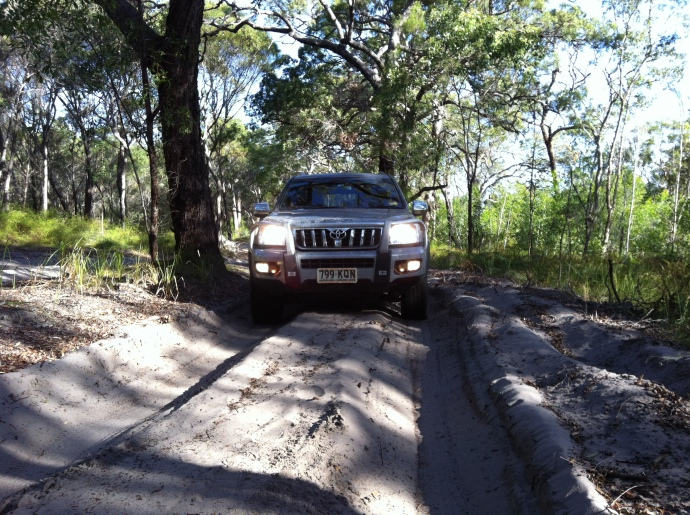 Four wheel driving in Deepwater National Park