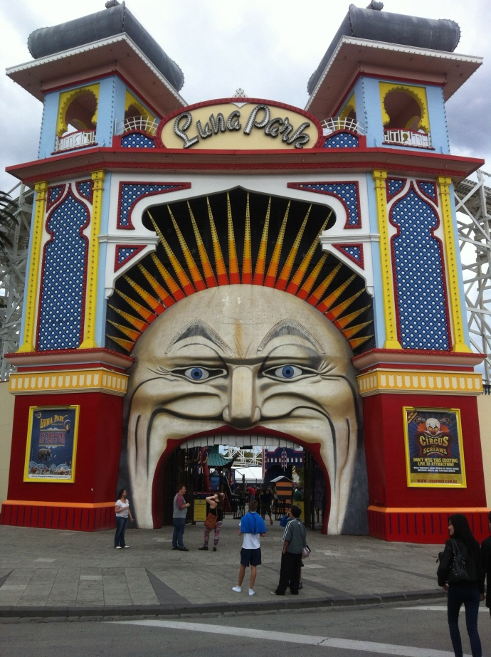 Revisiting St Kilda which was where we stayed 13 years ago!  Luna Park's still there!