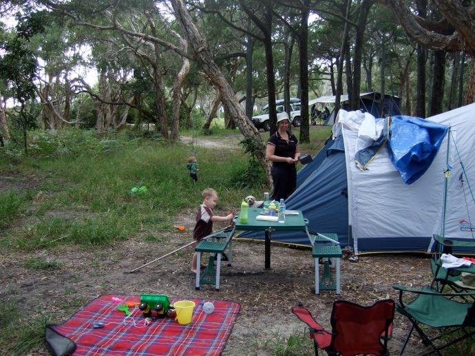 First Family Camping Trip to Stradbroke Island
