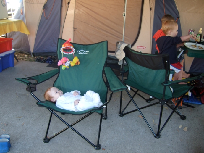Lexi's first camping trip!