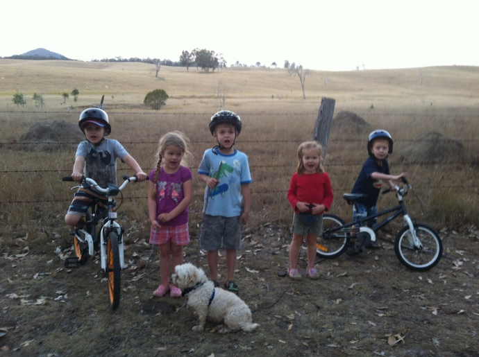 Fealy Kids terrorising the campground.