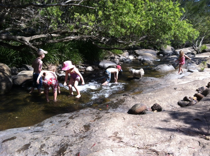 There are plenty of spots along the creek to explore and swim in.