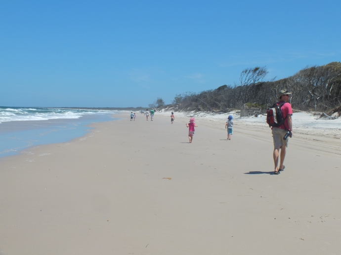 We opted for the walk home along the beach rather than through the bush again!