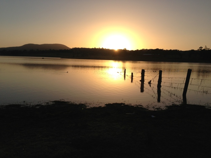 Sunrise at Lake Moogerah