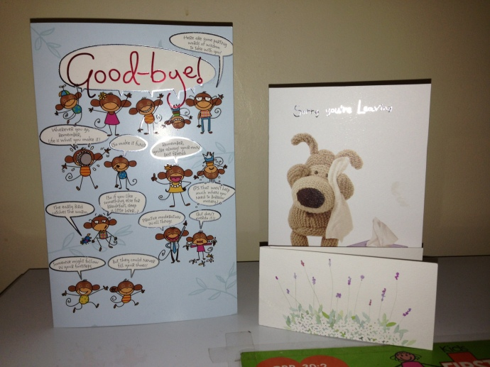 Awww - lovely farewell cards!