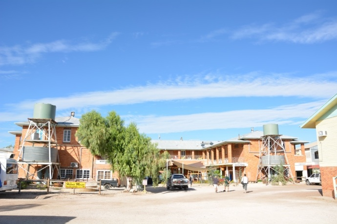 North Gregory Hotel where we free camped (gold coin donation) in Winton