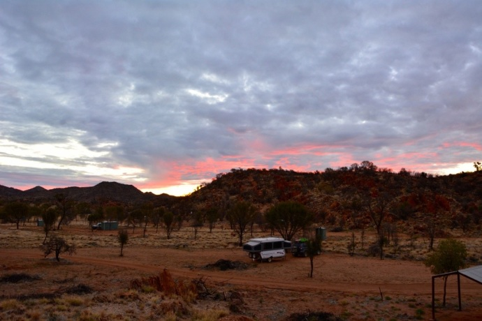Beautiful campsite (free) at Harts Range