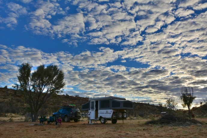 Our campsite Spotted Tiger Campground - Harts Range