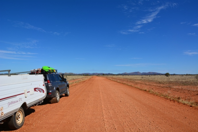 The road in to Mud Tank - much better than the one in to Harts Range