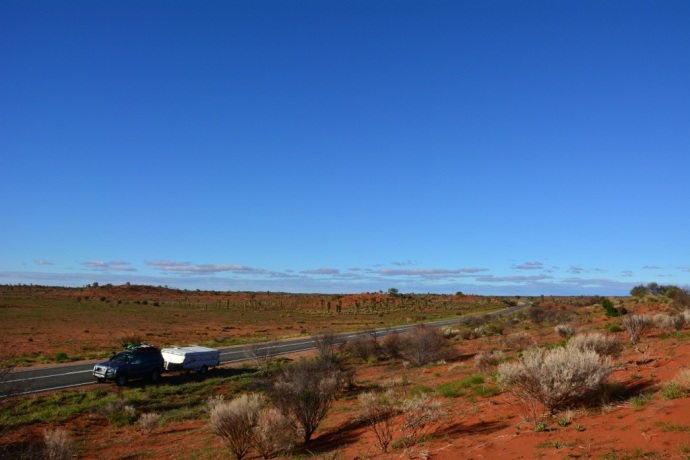 The drive out to Uluru