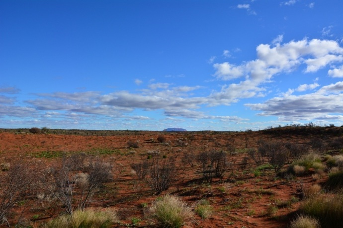 First sighting of Uluru