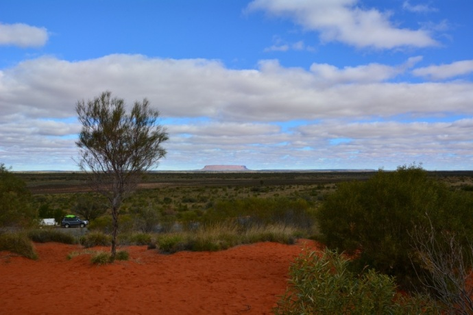 Mt Connor from a distance - tricks you into thinking it is Uluru!