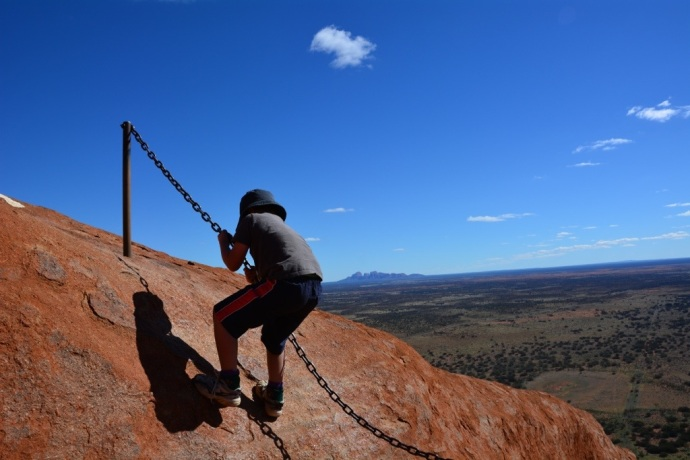 Jacko climbing