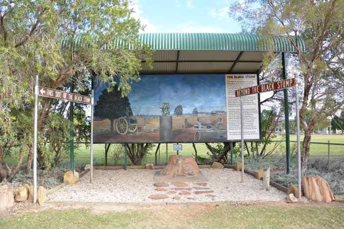 Blackall - where the saying 'beyond the black stump' originated
