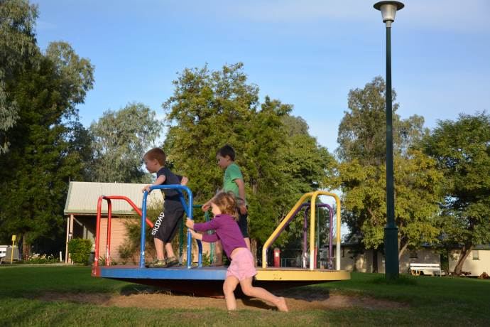 Great kids playground in Isisford - the park is also where the awesome hot showers are located!