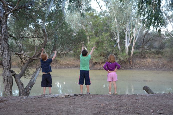 On the banks of the Barcoo River