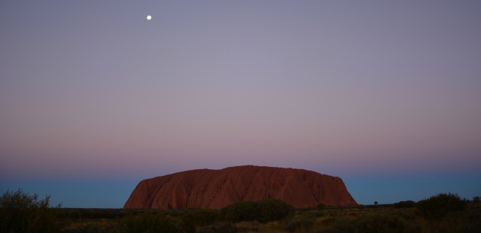 Uluru at dusk