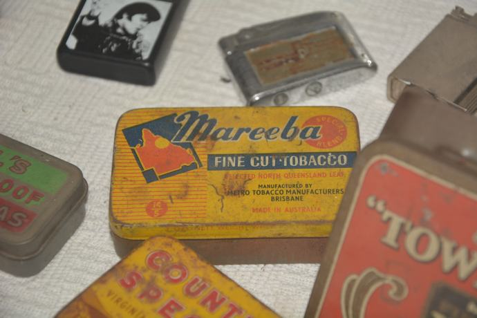 Ha - Mareeba tobacco tin - been a long time since we have seen one of those!