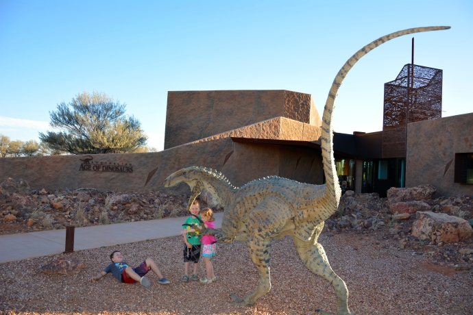 Out the front of the Age of Dinosaur museum