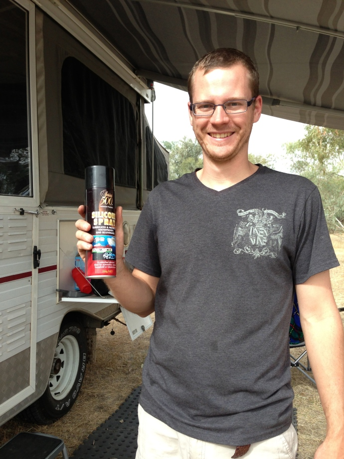 Matt & his magic silicon spray!