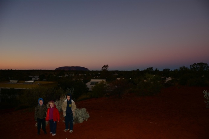 Sunrise on Uluru from the campground
