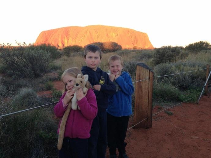 Kids at Uluru