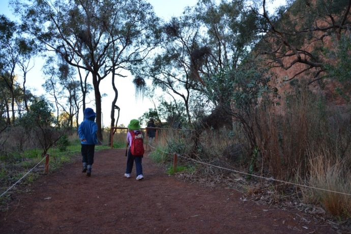 Kids on the Mala Walk - it was freezing that morning!