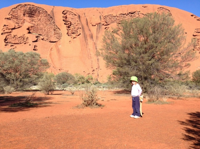 Then we head off on our own to walk around the base of Uluru