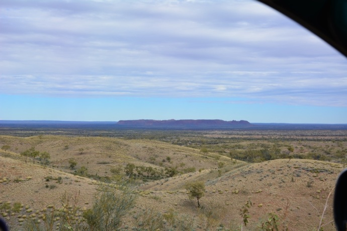 Gosses Bluff Crater formed by the impact of an asteriod millions of years ago