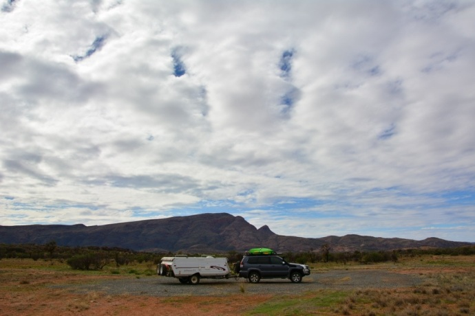 Entering the West MacDonnell Ranges