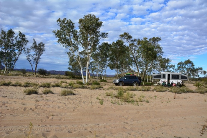 Our lovely campsite at Finke 2-Mile
