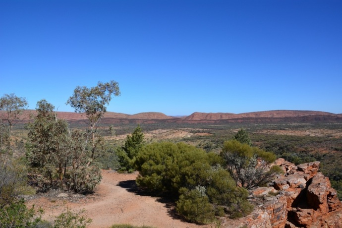 View from the lookout at Serpentine Gorge