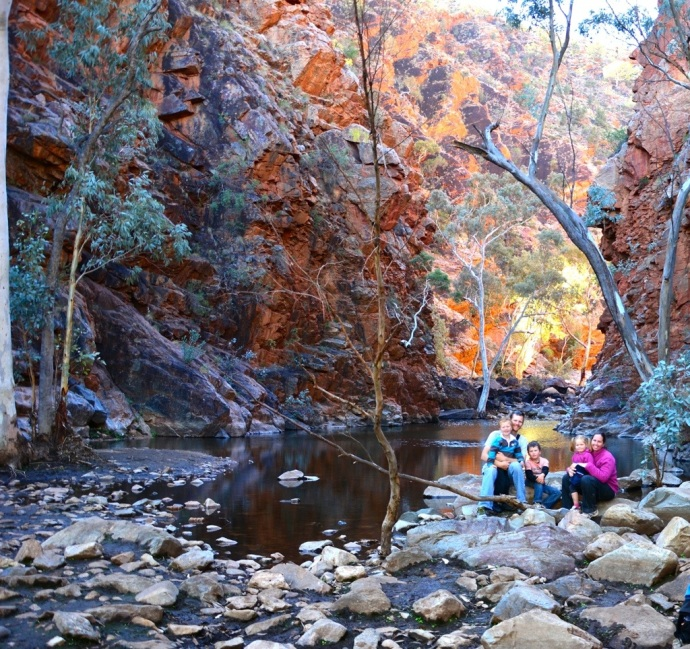 Family pic - Serpentine Gorge