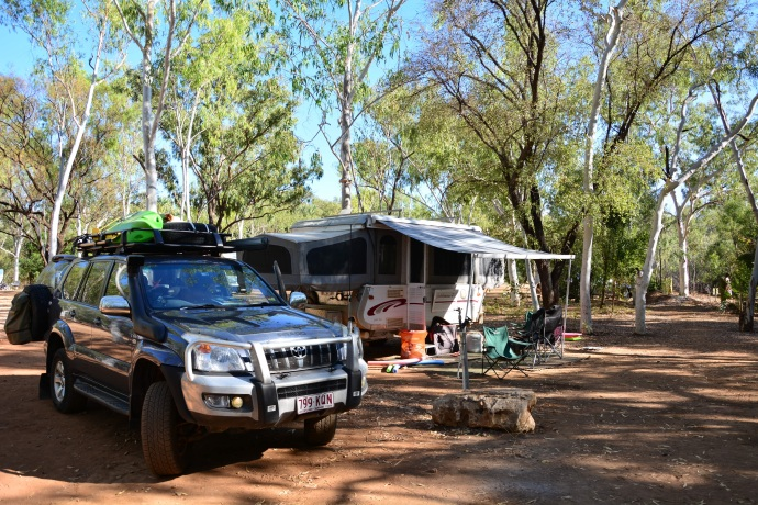 Our campsite - Mataranka Homestead