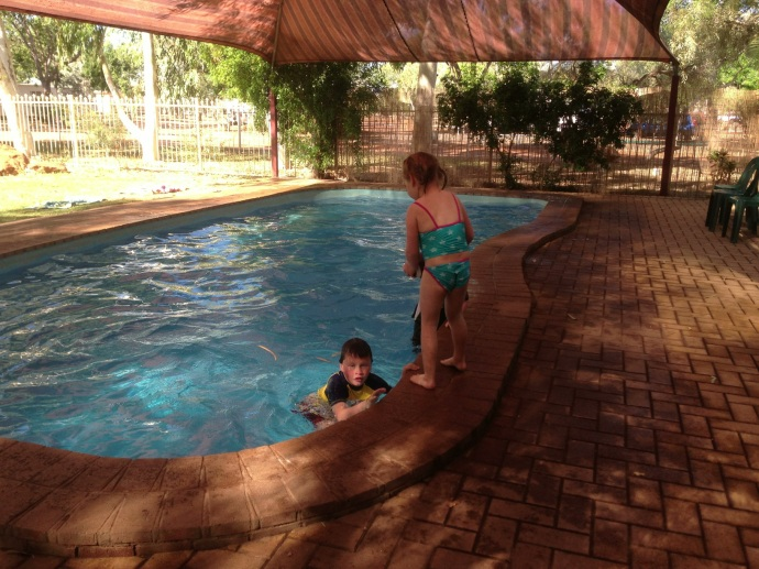 Lots of pool time - great pool but freezing cold!