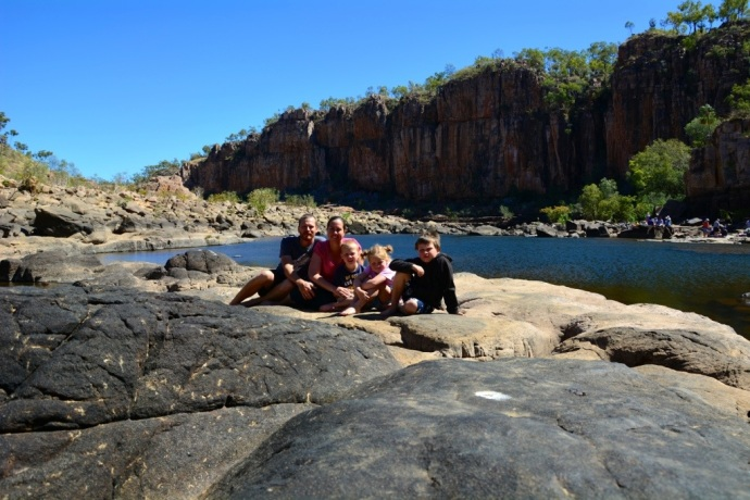 Family Shot - Katherine Gorge