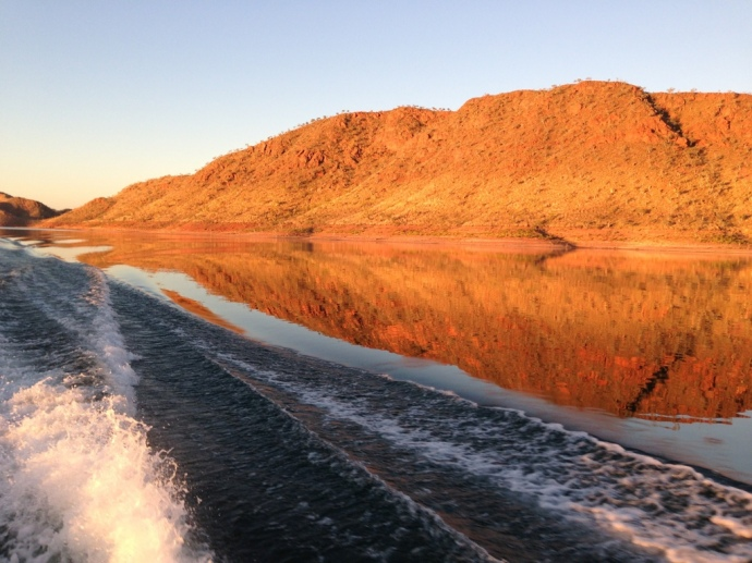 Sunset boat cruise on Lake Argyle