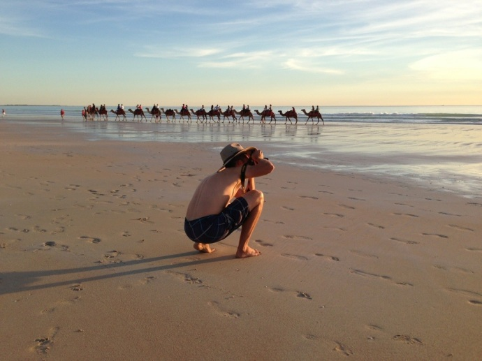 My photographer boy in Broome!