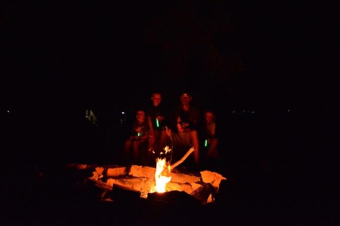 Great campfire at Lake Argyle