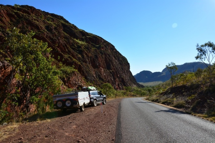 The drive in to Lake Argyle was really pretty