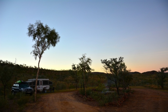 Our campsite at Lake Argyle