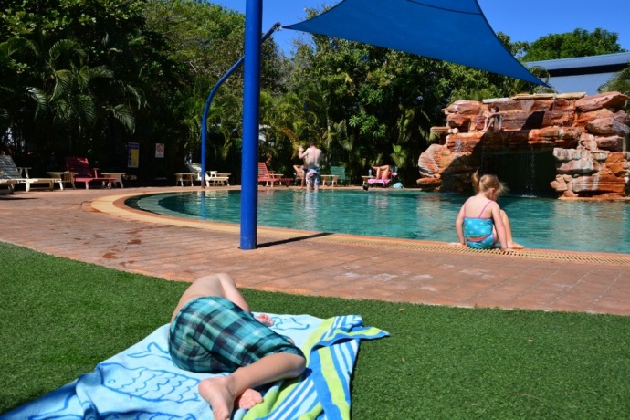Awesome swimming pool at Cable Beach Caravan Park