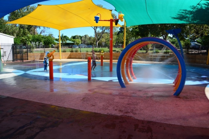 Water park at Roebuck Bay